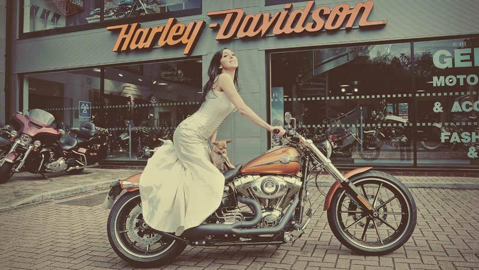 harley davidson wedding dress 45 couturekit
